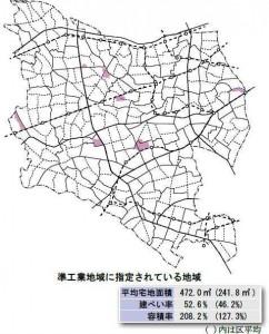 世田谷区準工業地域